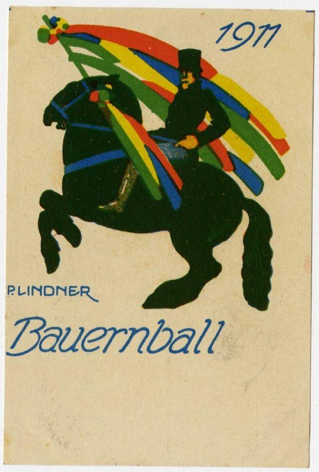 Bauernball 1911 Ausstellung 150 Jahre Postkarte Museum für Kommunikation Berlin