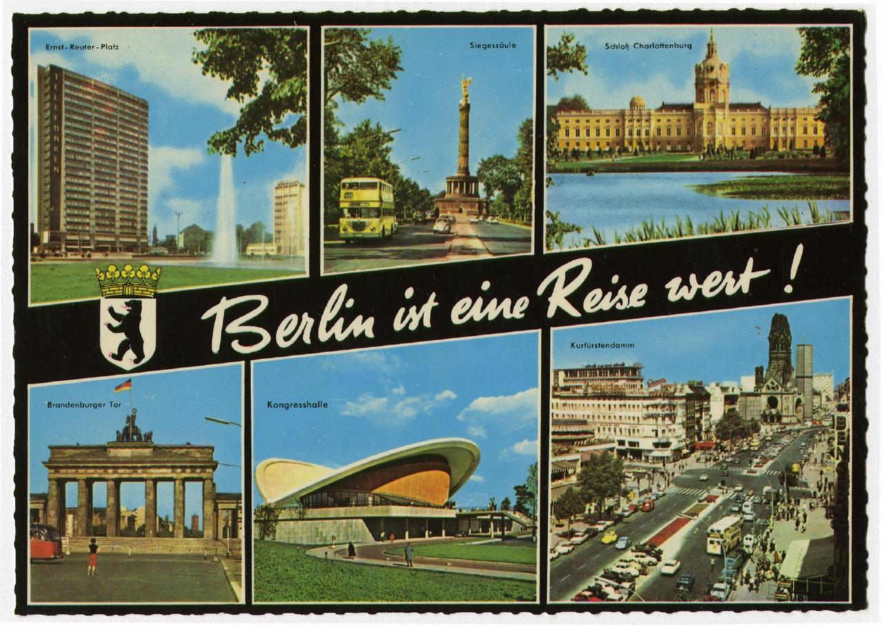 Berlin ist eine Reise wert! 1970 Ausstellung 150 Jahre Postkarte Museum für Kommunikation Berlin