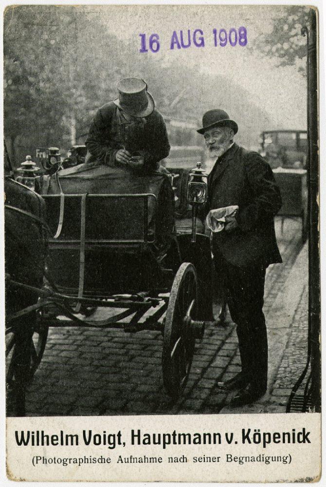 Der Hauptmann von Köpenick 16.08.1908 Ausstellung 150 Jahre Postkarte Museum für Kommunikation Berlin