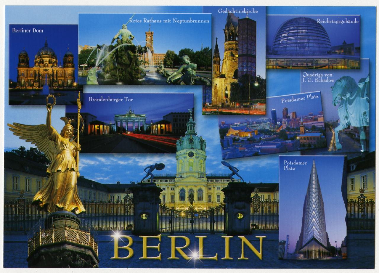 """Postkarte """"Berlin"""" 2018 Ausstellung 150 Jahre Postkarte Museum für Kommunikation Berlin"""